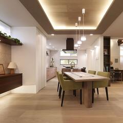 インテリア/家具/住まい/リフォーム/収納/インテリアコーディネート/... 広々としたリビングダイニングキッチン。ア…