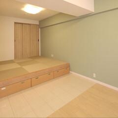 インテリア/住まい/リフォーム/収納/リノベーション/インテリアデザイン/... リビングを拡張するため隣接する6畳の和室…