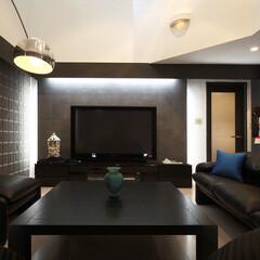 インテリア/家具/住まい/リフォーム/インテリアデザイン/インテリアコーディネート/... 戸建住宅のリノベーション。リビングで映画…