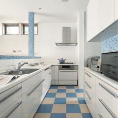 モザイクタイル/システムキッチン/インテリアデザイン/インテリアコーディネート/ミサワホームイング/リノベーション/... 空間のつながりを生む対面キッチンにするこ…