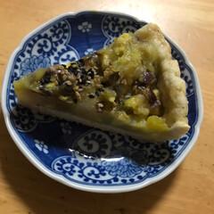 甘いもの/ケーキ 甘納豆とサツマイモのタルト  卵を使わな…