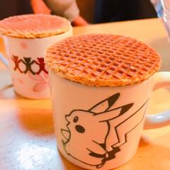 輸入菓子/オランダ菓子/業務スーパー/ストロープワッフル/フォロー大歓迎/スイーツ ストロープワッフルでお茶の時間  家族の…