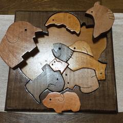 木製パズル/雑貨大好き/ハンドメイド/雑貨だいすき お姉ちゃんが、中学生の時に授業で作った木…(2枚目)