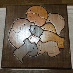木製パズル/雑貨大好き/ハンドメイド/雑貨だいすき お姉ちゃんが、中学生の時に授業で作った木…(1枚目)