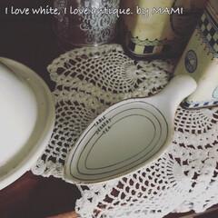 フラワーアレンジメント/お花のある暮らし/お花/メジャースプーン/陶器/いいね♡ありがとうございます/... 内側には、 TEA、DESSERT、TA…