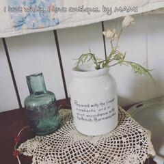 いいね♡ありがとうございます/陶器瓶/アンティーク/カントリーインテリア/フレンチカントリー/DIY/... イギリスの珍しい陶器瓶💕 そんなに古い…