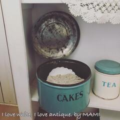 いいね♡ありがとうございます/Cake缶/ケーキ缶/Tala社/Tin缶/アンティーク/... フタを開けて置いても かわいいんです☺…