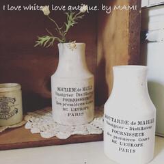 陶器瓶/マーマレードボトル/いいね♡ありがとうございます/アンティーク/カントリーインテリア/フレンチカントリー/... ロゴは前回の子とまったく 同じなので、…