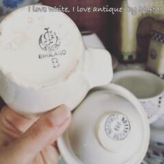 ダイニングインテリア/食器棚/カップボード/エッグセパレーター/陶器瓶/アンティーク/... 刻印もかわいい💕