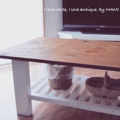 オリジナル家具/オリジナル/ホワイト家具/フレンチカントリーインテリア/フレンチカントリー/DIY家具/... こんなリビングテーブルが あったらいいの…