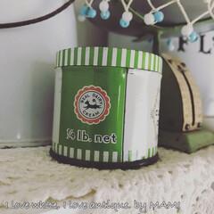 ロゴ/うし/いいね♡ありがとうございます/クロテッドクリーム/Tin缶/カントリーインテリア/... 牛のロゴが可愛すぎ♡ シッポの先がお花だ…