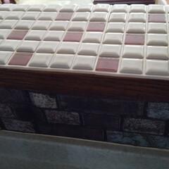 モザイクタイル プチコレガラスMIX パープル   藤垣窯業(その他建築用タイル)を使ったクチコミ「LIMIAの「プチコレガラスMIX」モニ…」(6枚目)