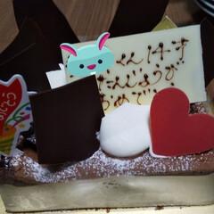 ガトーショコラ/誕生日/誕生日ケーキ 今日は 息子の14歳の誕生日でした😆  …