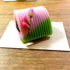 名前覚えられない😭/上生菓子/フード 貰った上生菓子 名前、分からないけど美味…