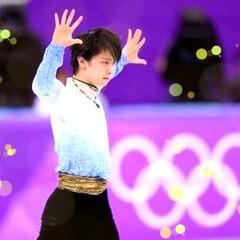 フィギュアスケート/プーさん/羽生結弦/おめでとう/1位/金メダル/... 本当に感動しました!足のケガで、3つもの…