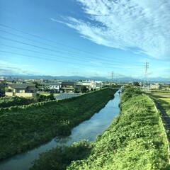 自然/きれい/新幹線/仙台/おでかけ 仙台へ行く新幹線から撮った写真📷 いい旅…