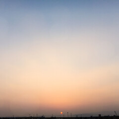 夕焼け 帰りに見た、夕焼け 最近、日が長くなった…