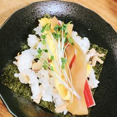 夜ご飯/手巻き寿司/節分/フォロー大歓迎/わたしのごはん/おうちごはんクラブ/... 👹節分の日👹 ということで、今日の夜ご飯…
