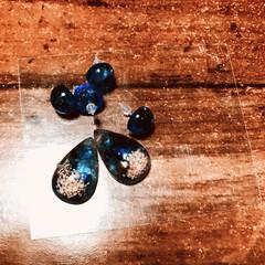 琉球ガラスカレット/琉球ガラス/レジンアクセサリー/レジン/セリア/ダイソー 簡単に作ってみた(╹◡╹)