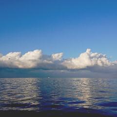 船からの帰り/フォロー大歓迎/風景 今日の漁に出港したものの…⛴️ 30分く…