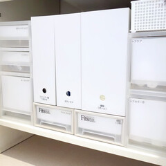 シンデレラフィット/無印良品/スタンドファイルボックス/洗面台/洗面所/ストッカー/... 観音開きになっている、洗面台下収納です。…