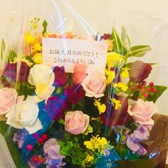 薔薇/お花/お誕生日プレゼント/暮らし 毎年お誕生日に主人からプレゼント💕 バラ…