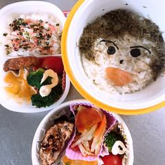 中学女子弁当/顔/お弁当/みんなのお弁当 今日のおべんとう。 娘のお弁当は… 顔で…(1枚目)