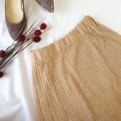 ファッション/おちびコーデ/フレアスカート/ニットスカート/秋冬コーデ 秋冬コーデにぴったりのニットスカート👀♥…