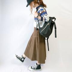 ノルディック柄/秋ファッション/カジュアルコーデ/リュック/プチプラコーデ/しまむらコーデ/... カジュアルコーデ🙈✨  しまむらのフレア…