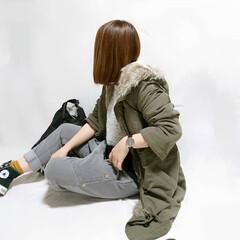 プチプラコーデ/冬ファッション/ママコーデ/おちびコーデ/カジュアルコーデ/モッズコート/... しまむらのモッズコートでカジュアルコーデ…