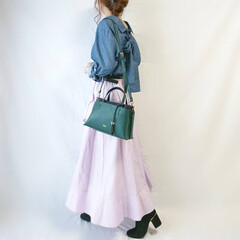 低身長コーデ/きれいめコーデ/ショートブーツ/秋ファッション/着回しコーデ/ファッション ちょっとキレイめコーデ😂⭐  ブルー×ラ…