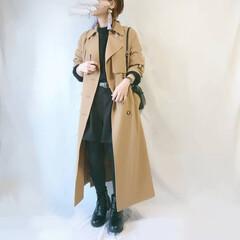 ショートブーツ/ショートパンツ/トレンチコート/ママコーデ/プチプラ高見え/プチプラファッション/... しまむらアイテムが沢山なコーデ🙌  ベル…