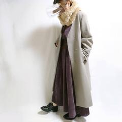 KBF/冬コーデ/冬ファッション/低身長コーデ/おちびコーデ/ファーティペット/... 身長が低いと難しいロング×ロングコーデ🙉…