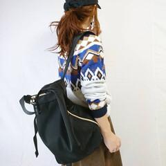 バックパック/秋冬ファッション/カジュアルコーデ/ママコーデ/リュック ママに嬉しい、軽いナイロン素材のリュック…