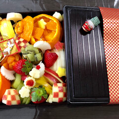 お正月/フード/グルメ/ハンドメイド おせちの後の果物にも お正月フルーツおせ…