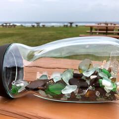 シーグラス/海/おでかけ 今日は、暖かかったので海へシーグラスを拾…