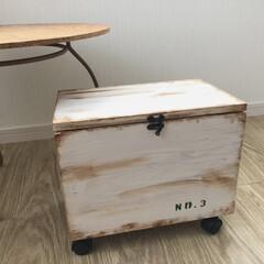 廃材/ハンドメイド/DIY/100均/収納/建築/... BOX、NO3を作りました(*^^*) …