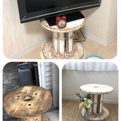 配線ドラム/DIY 娘の部屋のテレビ台がようやく完成しました…