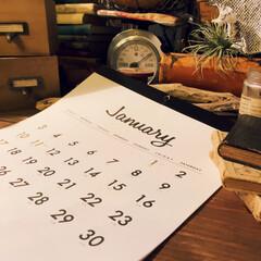 男前インテリア/ダイソー購入品/おすすめ/100均/来年用カレンダー/カレンダー/... 来年のカレンダーは、 ダイソーのをリピー…
