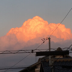 夕方の雲 今日は、暑かった…💧