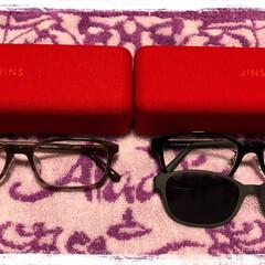 サングラス/JINS/メガネ メガネを2本新調しましたʕ•̫͡•ʔ♬✧…