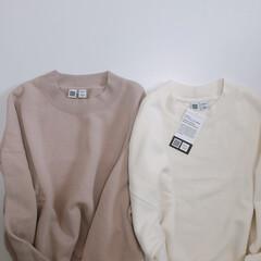 スウェットクルーネックプルオーバー/スウェット/UNIQLOU/ユニジョ/ユニクロ/ファッション 店頭で試着 してみたら、 着心地の良さと…