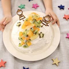 おやつ作り/おやつ/こどものいる暮らし/うつわ/器/ケーキトッパー/... 今年の七夕はカステラを使ったドームケーキ…