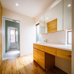 洗面化粧台/洗面/浴室/インテリア/造作洗面台/造作キッチン/... オリジナルな水まわり♪ : ■haus-…