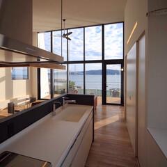 バルコニー/インテリア/家づくり/住宅/設計/リビング/... キッチンからもこの眺め♪ ■haus-b…