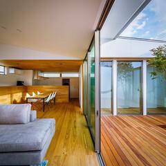 設計事務所/設計/家具/インテリア/ダイニング/ウッドデッキ/... リビング、中庭周り♪ : ■haus-f…(2枚目)