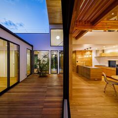 デザイン/設計事務所/設計/家づくり/リビング/ダイニング/... リビング中庭まわり♪ : ■haus-c…