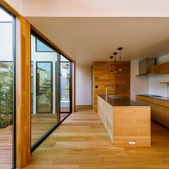 ウッドデッキ/中庭デッキ/中庭住宅/中庭のある家/中庭/インテリア/... キッチン&中庭まわり♪ : ■haus-…(4枚目)