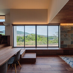 景色の良い敷地/景色/設計事務所/建築/建築家/住まい/... ■haus-agit■ 玄関から入ってく…