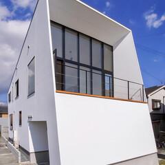 神戸/設計事務所/設計/外観デザイン/外観/インテリア/... 玄関側ではないこちら西面のほうが開けてい…